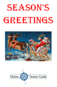 holiday greetings from Maine Senior Guide