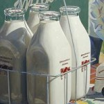 glass refillable milk bottles