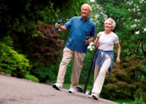 senior fitness includes active seniors enjoy walking