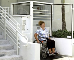verticle platform lifts help may people confined to wheelchairs